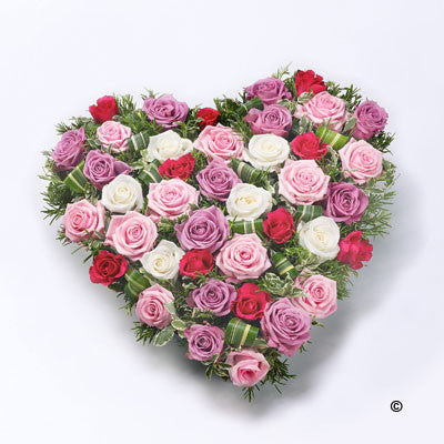 Rose Heart - Red & Pink - Ramsbothams Florists Milton Keynes