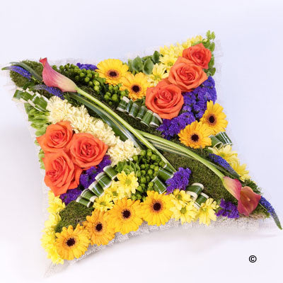 Contemporary Cushion - Vibrant - Ramsbothams Florists Milton Keynes