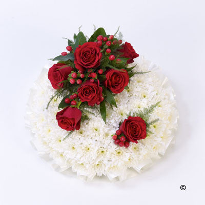 Posy - Red & White - Ramsbothams Florists Milton Keynes