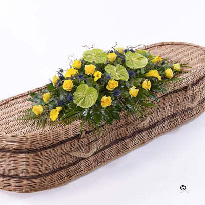 Woodland Casket Spray - Ramsbothams Florists Milton Keynes