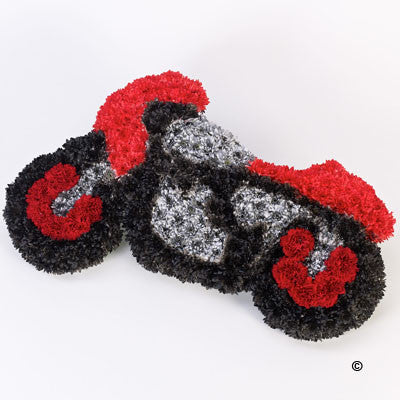 Motorcycle Tribute - Ramsbothams Florists Milton Keynes