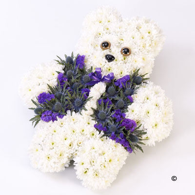 Teddy Bear Tribute - Blue - Ramsbothams Florists Milton Keynes