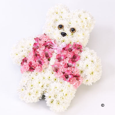 Teddy Bear Tribute - Pink - Ramsbothams Florists Milton Keynes