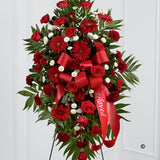 Standing Spray - Red - Ramsbothams Florists Milton Keynes