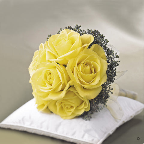 Lemon Rose Bridal Posy - Ramsbothams Florists Milton Keynes