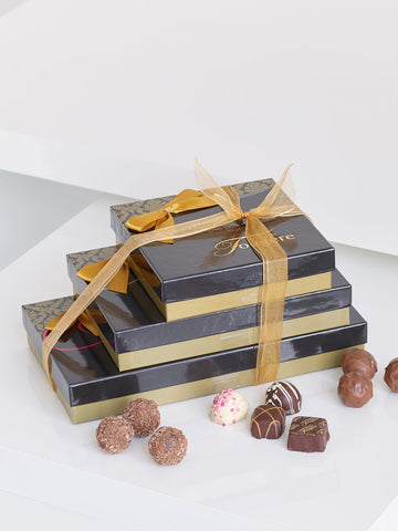 Trio of Chocolates Gift Set - Ramsbothams Florists Milton Keynes