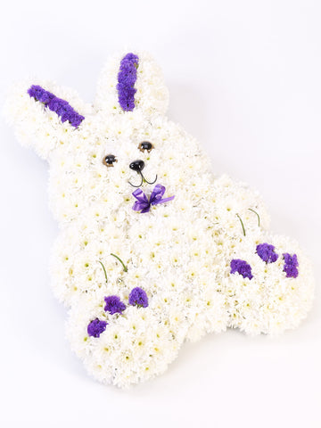 Rabbit Tribute - Blue - Ramsbothams Florists Milton Keynes
