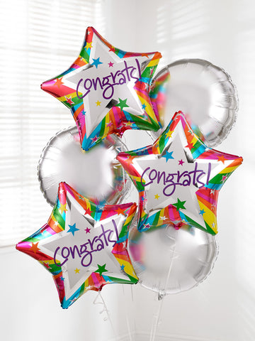 Congratulations Balloon Bouquet - Ramsbothams Florists Milton Keynes