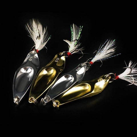 Image of Silver/Gold Metal Fishing Bait