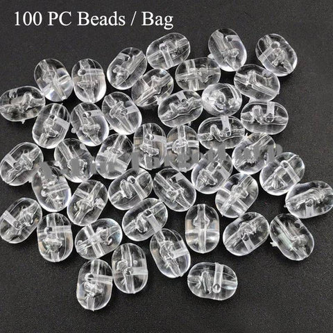 Image of Transparent Fishing Cross Beads