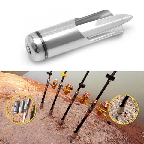 Image of Durable Adjustable Stainless Steel Rod Pole Ground Holder