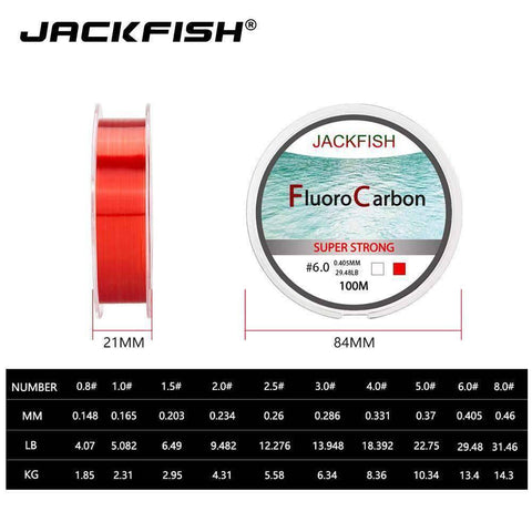 Image of jackfish-100m-fluorocarbon-fishing-line-fishtrapp