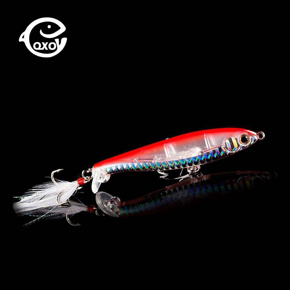 Fishing Lure Jig  12cm 9g Silicone Bait Metal Hard Goods