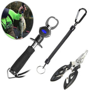 Bestbuying Store Fish Lip Gripper Grabber with Scale+Fish Lanyards Hook+Fishing Pliers Scissors Fishing Tool Kit BB55
