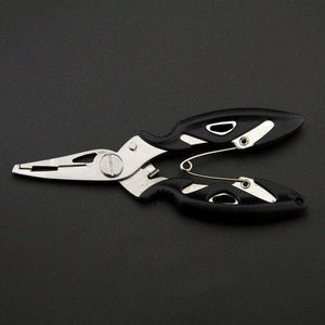 Fish Trap Accessories Black Stainless Steel Fishing Pliers