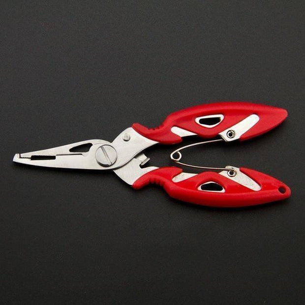 Fish Trap Accessories Red Stainless Steel Fishing Pliers