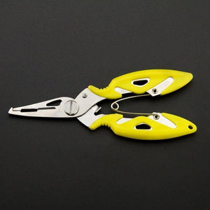 Fish Trap Accessories Yellow Stainless Steel Fishing Pliers