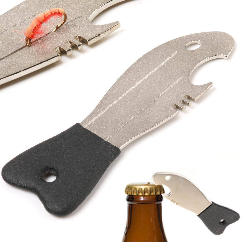 Fish-Trapp Accessories 2 Pcs Fishing Hook Hone And Bottle Opener