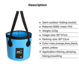 20L Folding Collapsible Fishing Bucket