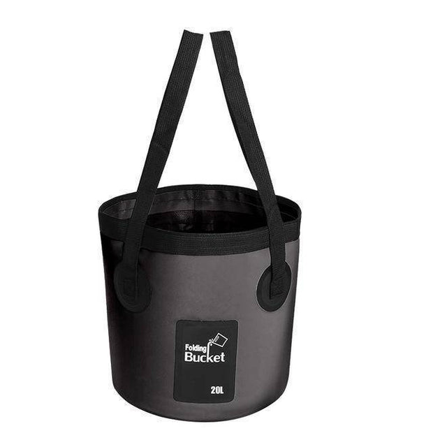 Fish-Trapp Accessories Black 20L Folding Collapsible Fishing Bucket