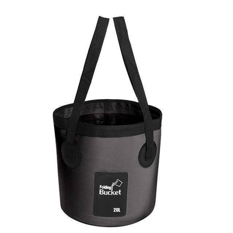 Image of Fish-Trapp Accessories Black 20L Folding Collapsible Fishing Bucket