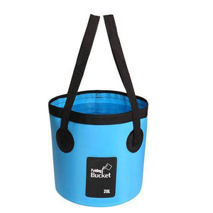 Fish-Trapp Accessories Blue 20L Folding Collapsible Fishing Bucket