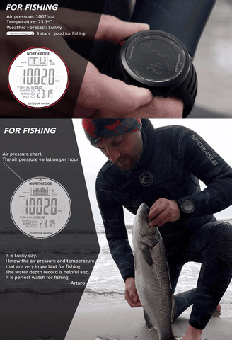 Image of Fish-Trapp Accessories Digital Fishing Outdoor Watch