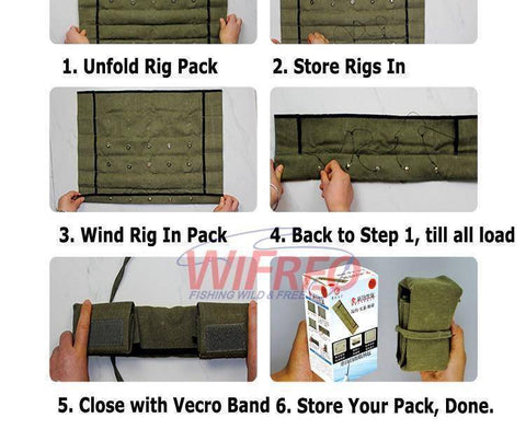 Fish-Trapp Accessories Easy Fishing Rigs Storage Organize Pack