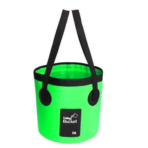 Fish-Trapp Accessories Green 20L Folding Collapsible Fishing Bucket