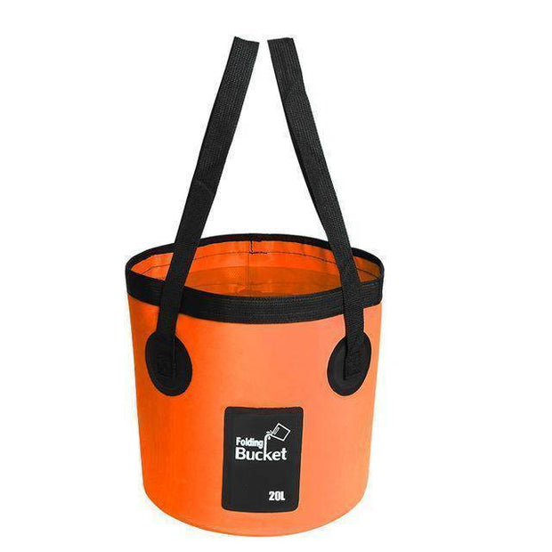 Fish-Trapp Accessories Orange 20L Folding Collapsible Fishing Bucket