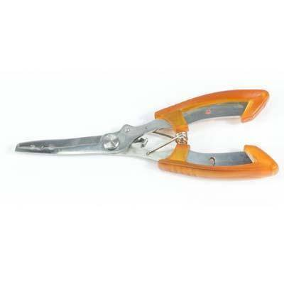 Fish-Trapp Accessories Orange Stainless Steel Fishing Pliers