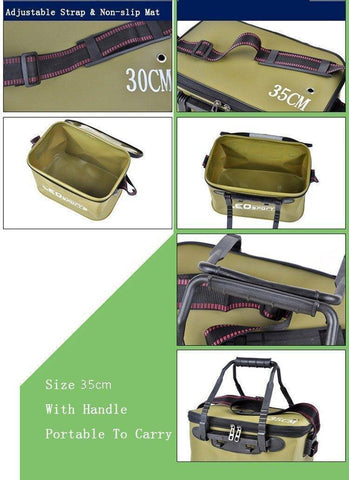Fish-Trapp Accessories Portable Folding Water Bucket