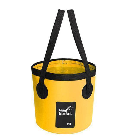 Fish-Trapp Accessories Yellow 20L Folding Collapsible Fishing Bucket