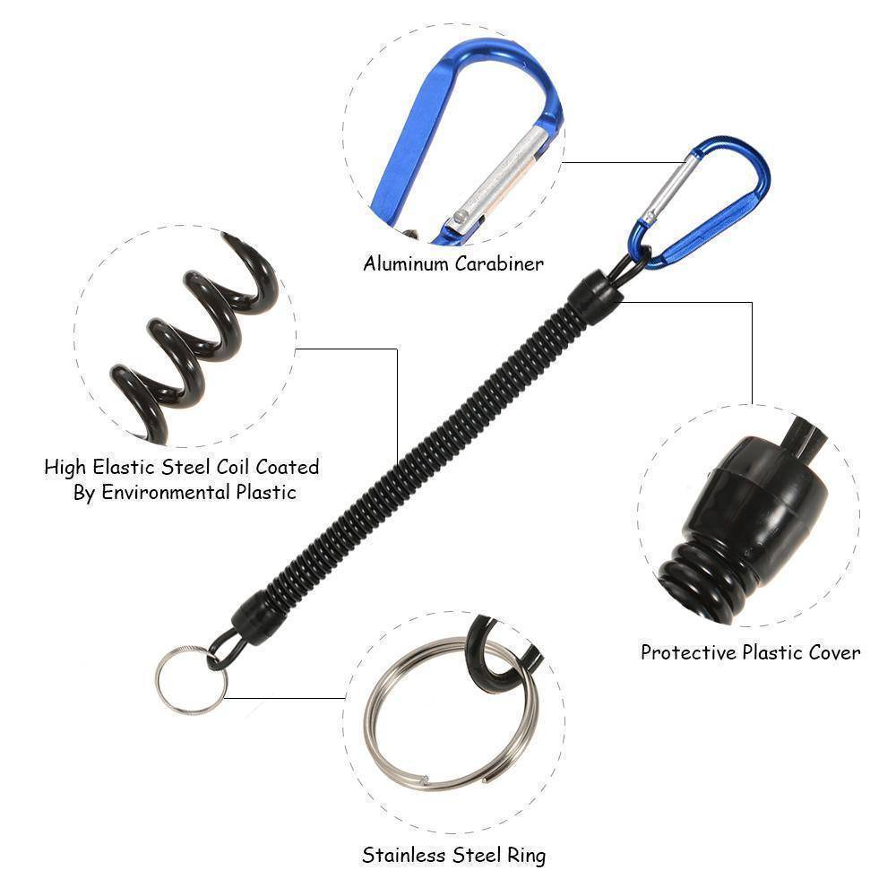 Fish-Trapp Accessory Coiled Fishing Lanyard