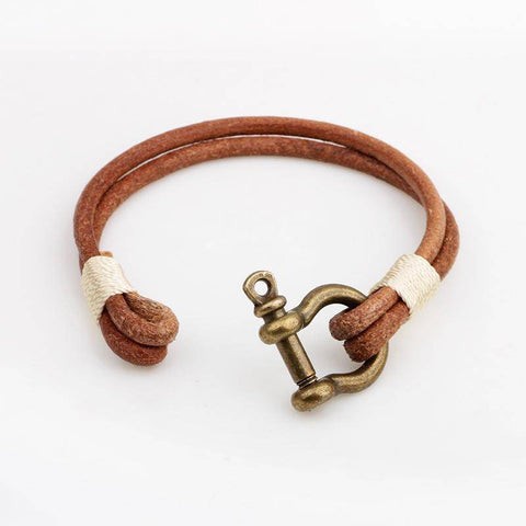 Image of Fish-Trapp Bracelets Ethnic TRIBAL Leather Unisex  Bracelet