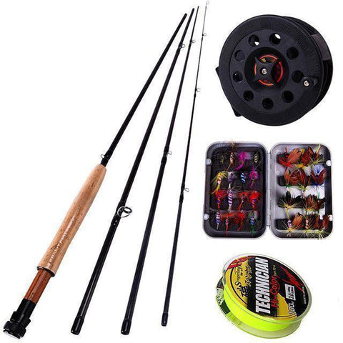Image of Fish-Trapp Combos Black Fly Rod and Fly Reel Combo Deal