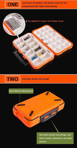 Image of Fish-Trapp Fishing Boxes Double Layer Hard Plastic Fishing Box