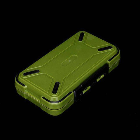 Fish-Trapp Fishing Boxes Green L Double Layer Hard Plastic Fishing Box