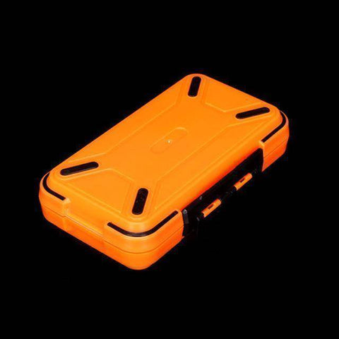 Fish-Trapp Fishing Boxes Orange L Double Layer Hard Plastic Fishing Box