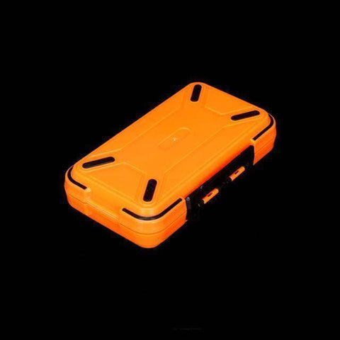 Fish-Trapp Fishing Boxes Orange M Double Layer Hard Plastic Fishing Box