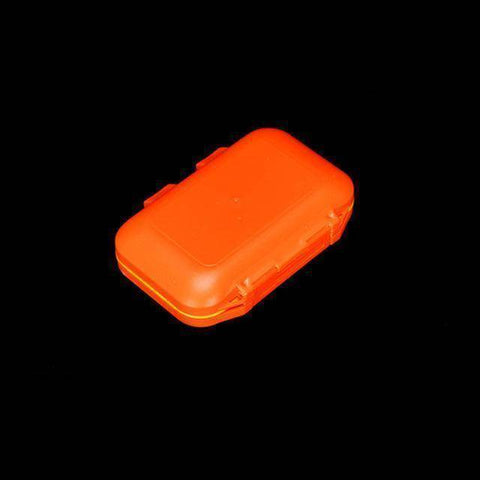 Fish-Trapp Fishing Boxes Orange S Double Layer Hard Plastic Fishing Box