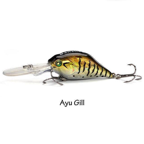 Fish-Trapp Lures Ayu Gill Banshee Profound Pulse Floating Bass Fishing Lure