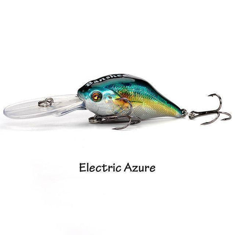 Fish-Trapp Lures Electric Azurel Banshee Profound Pulse Floating Bass Fishing Lure