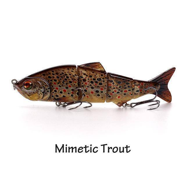 Fish-Trapp Lures Mimetic Trout Banshee Nexus Prophecy Multi Jointed Swimbait