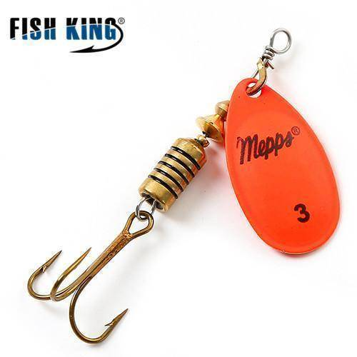 Fish-Trapp Lures Orange 3 Mepps Artificial Fishing Lure