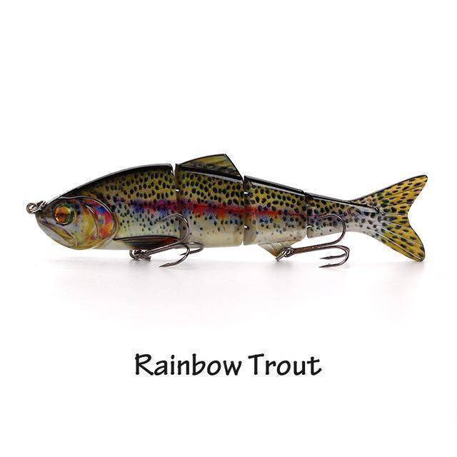 Fish-Trapp Lures Rainbow Trout Banshee Nexus Prophecy Multi Jointed Swimbait