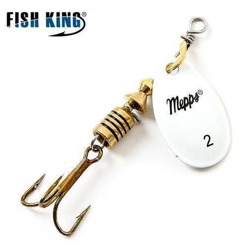 Fish-Trapp Lures White 2 Mepps Artificial Fishing Lure