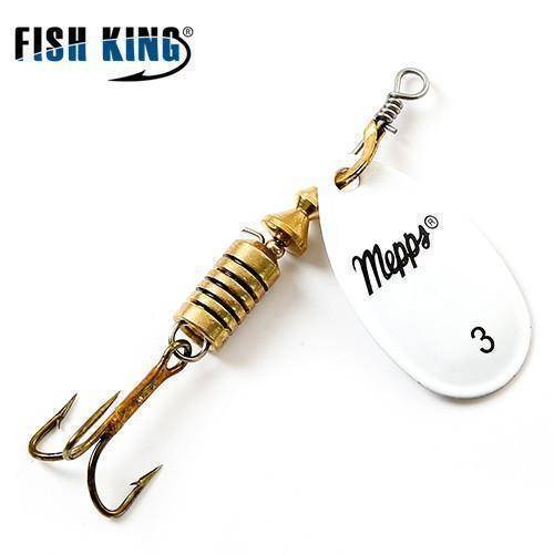 Fish-Trapp Lures White 3 Mepps Artificial Fishing Lure