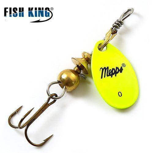 Fish-Trapp Lures Yellow 0 Mepps Artificial Fishing Lure