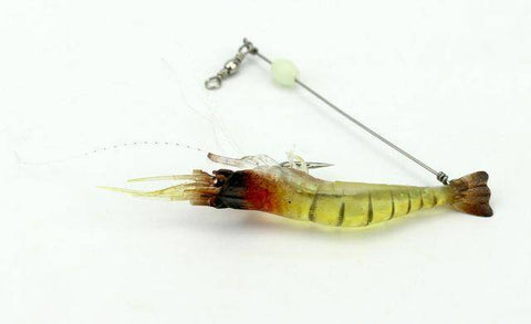 Fish-Trapp Lures Yellow Luminous Shrimp Lure